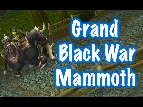 Warcraft Mounts: Grand Black War Mammoth [Alliance]