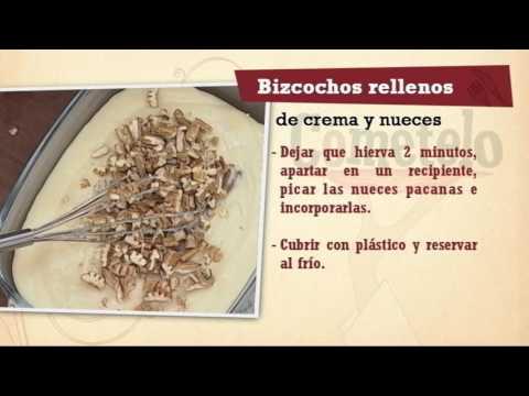 Repaso Bizcochos rellenos de crema y nueces