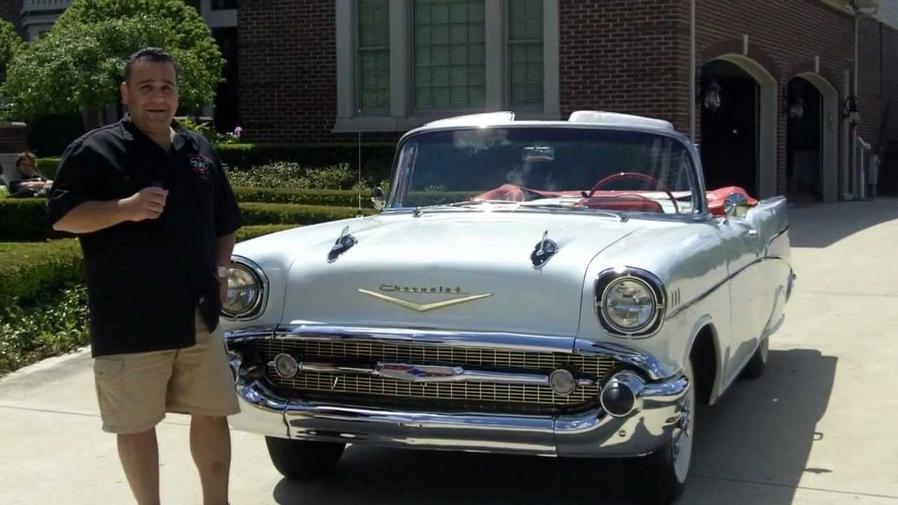 medium resolution of 1957 chevy bel air convertible classic muscle car for sale in mi vanguard motor sales youtube