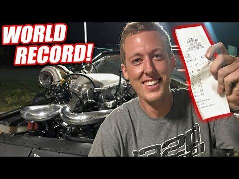 WE BROKE THE STICK SHIFT CORVETTE WORLD RECORD!!! UNREAL PASS!