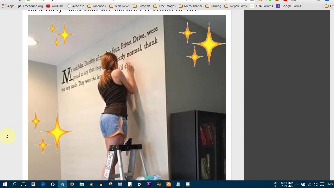 this woman painted the first page of harry potter on her wall this woman painted the first page of harry potter on her wall youtube