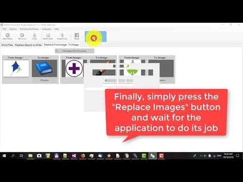 How to batch replace image in Word documents with Batch Document Image Replacer