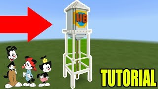 """Minecraft: How To Make The Warner Brothers Water Tower """"Animaniacs"""""""