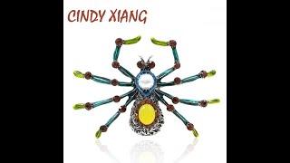 Cindy xiang 2 цвета большие броши пауки для женщин винтажный стиль модная брошь булавка
