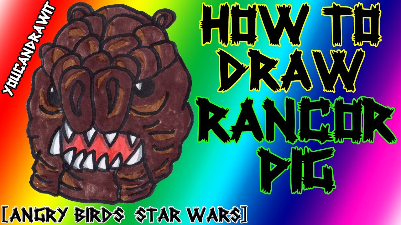 How To Draw Rancor Pig From Angry Birds Star Wars