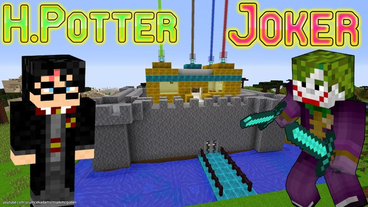 Download Joker Minecraft'ta Harry Potter'ı Buldu Harry Potter'ın Şatosu Çizgi Film Gibi