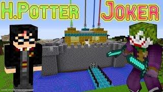 Joker Minecraft'ta Harry Potter'ı Buldu Harry Potter'ın Şatosu Çizgi Film Gibi