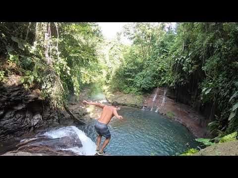 Lézarde falls in Guadeloupe