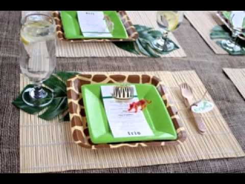 Diy Jungle Themed Baby Shower Decorating Ideas Youtube