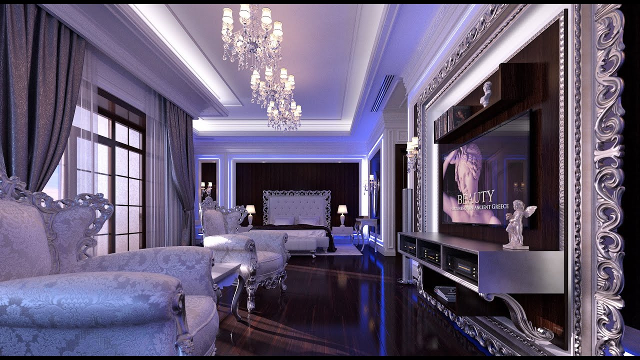 interior design luxury neoclassical bedroom interior youtube. Black Bedroom Furniture Sets. Home Design Ideas