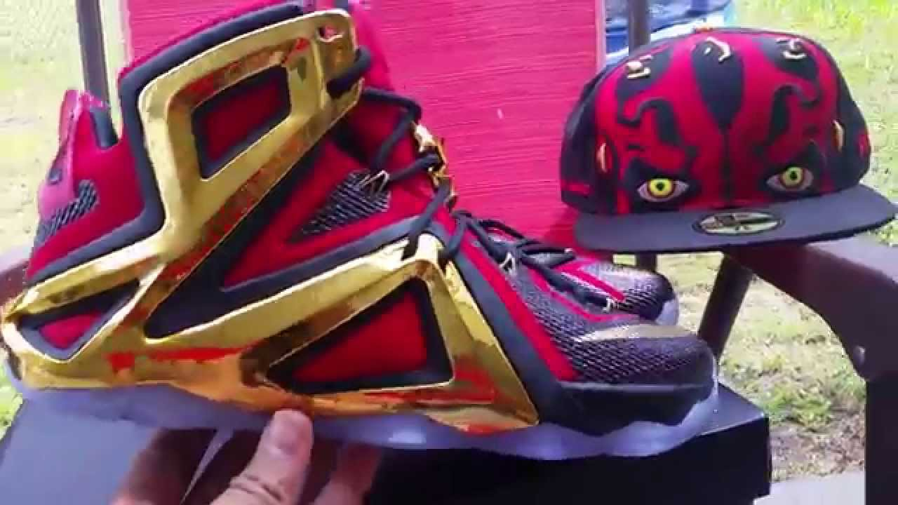 free shipping c2b05 787bd NIKEiD Lebron 12 Elite Darth Maul - YouTube