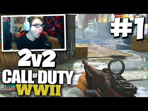 FIRST DOUBLES GB ON WW2! - COD WW2 2v2 GAMEBATTLES #1 (All Maps) w/ Red House!