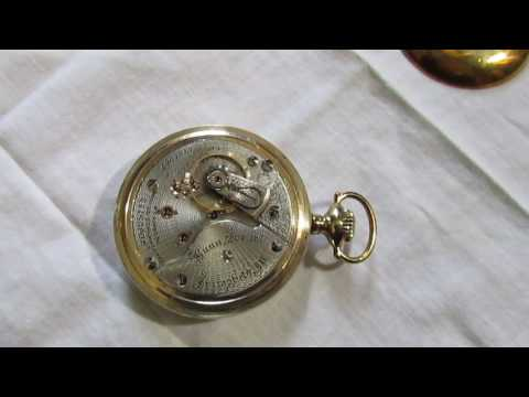 Antique 1907 Illinois 21 Ruby jewels 18s pocket watch