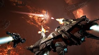 EVE Valkyrie VR | Warzone | Flying Around | (By GDE)
