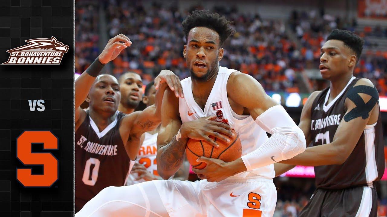 St Bonaventure Vs Syracuse Basketball Highlights 2018 19 Youtube
