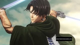 Attack on Titan Wings of Freedom Levi vs Beast Titan 99+Perfected Gear Gameplay