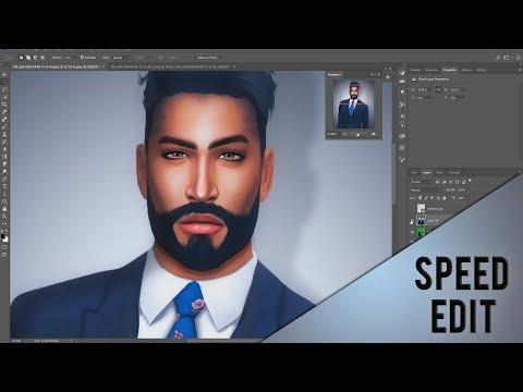 The Sims 4 - Adolfo - PHOTOSHOP SPEED EDIT