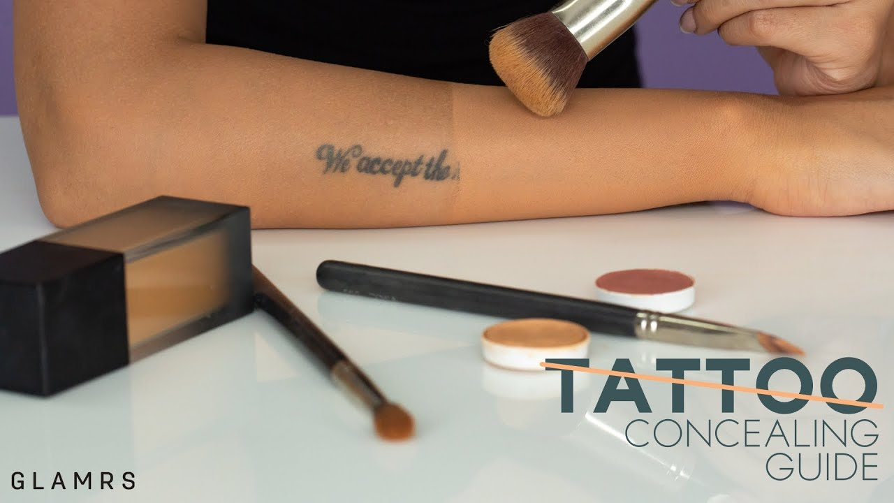 How To Cover And Conceal Tattoos Quick And Detailed Makeup Routine