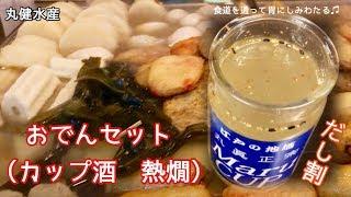 おでんセット(カップ酒 熱燗)・だし割【一息くん#609】丸健水産