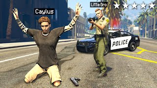 My Little Brother ARRESTS ME In GTA 5 Roleplay..