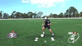 INSANE 4 cone drills. Amazing skill & Quick Feet. - Joner 1on1