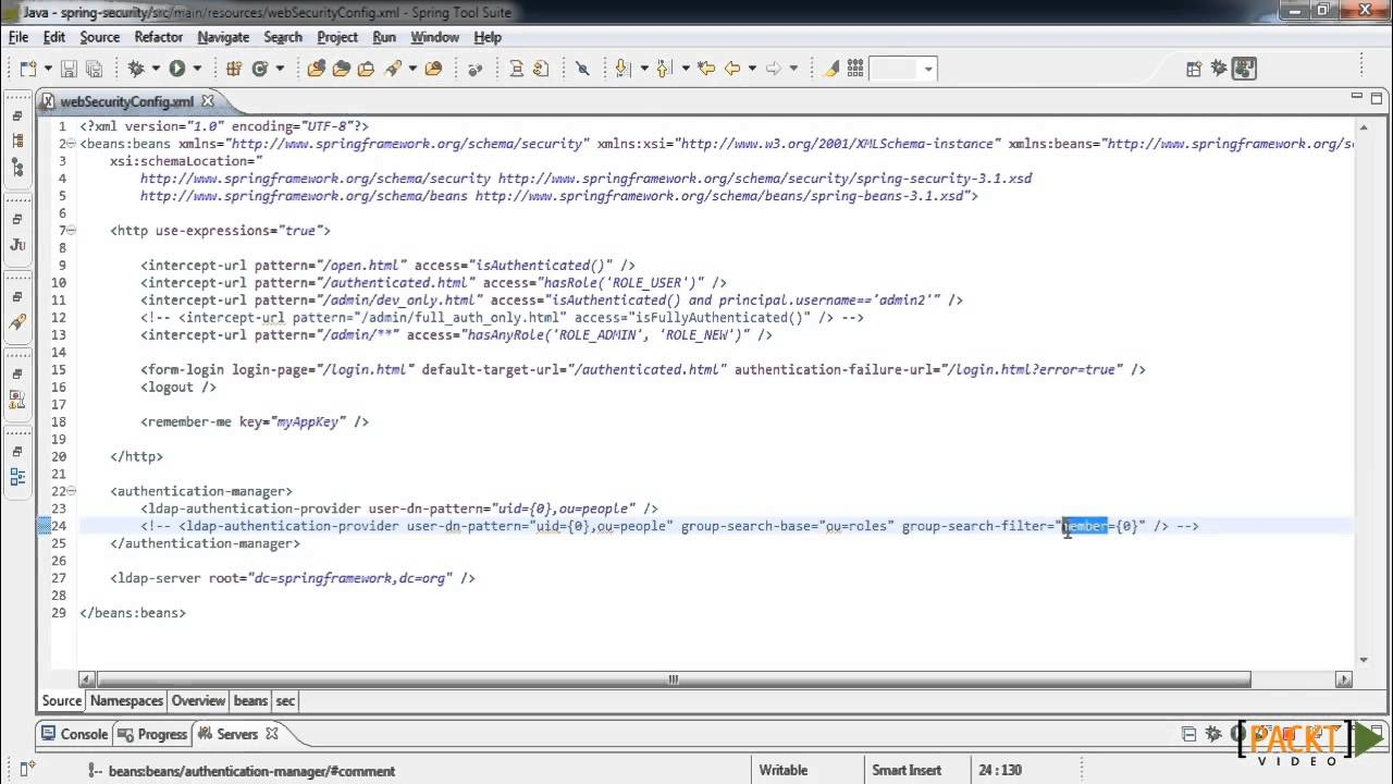 Spring Security Tutorial: Authorization with LDAP | packtpub com