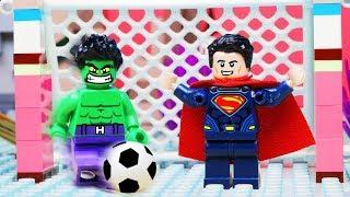 Lego City Soccer FAIL - Superhero Toy Football Animation