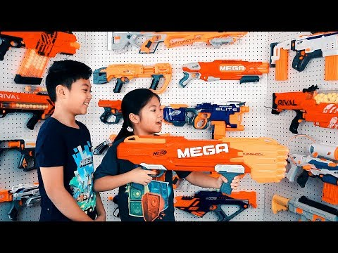 NERF GUNS ARSENAL Mega TwinShock From Toys