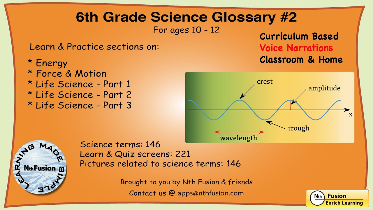 6th Grade Science Glossary # 2 : Learn and Practice Worksheets for home use  and in school classrooms - YouTube [ 720 x 1280 Pixel ]