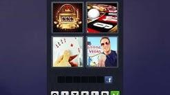 4 Bilder 1 Wort [Spielautomat, Roulette, Karten, Mann]