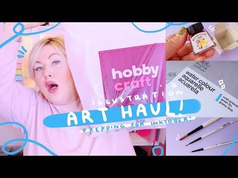 ART & CRAFT HAUL 002 | Prepping for Inktober | Paperchase & Hobby Craft UK Haul (2018)