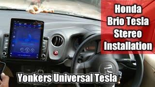 Tesla Stereo installation In Honda Car | Honda Brio Got Tesla Stereo | Yonkers Tesla Stereo In Brio