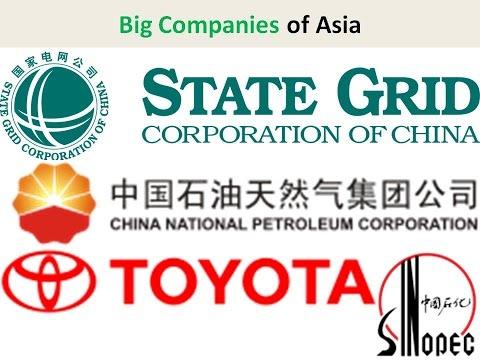 Big Companies of Asia: State Grid, China National Petroleum, Sinopec, Toyota