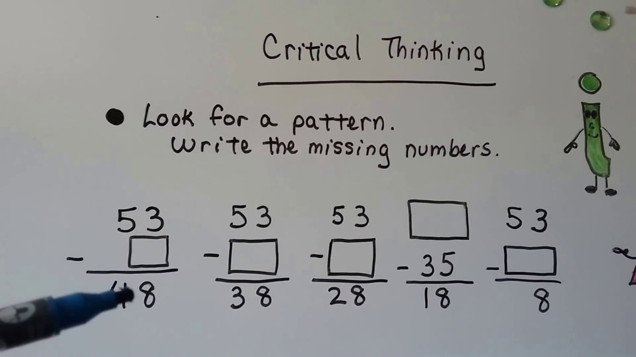 find a pattern problem solving