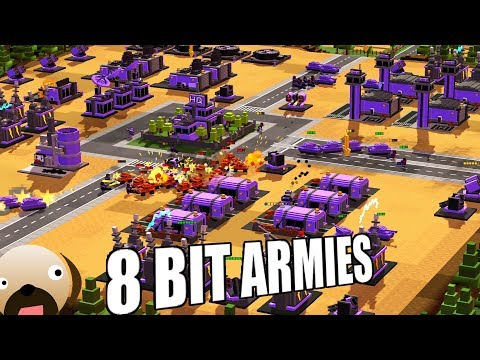 Pixel Command And Conquer Mammoth Tank Assault - 8 Bit Armies Gameplay