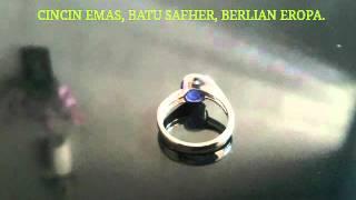 Cincin Emas, Batu Safher Sertifice, Berlian