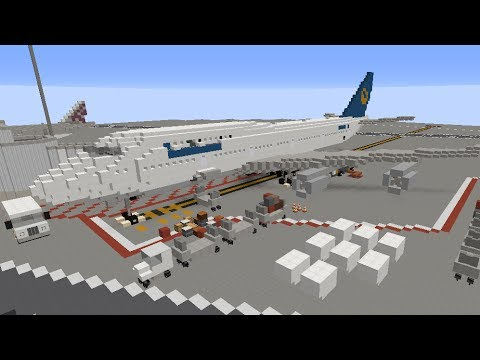 Minecraft Boeing 747 Part I Vehicle Tutorial Youtube