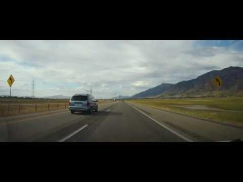 Driving on I15 from Brigham City, Utah to Pocatello, Idaho