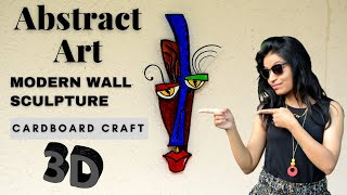 Modern Art | 3D Abstract Painting colourful Contemporary Tribal Wall Decor | Best Out Of Waste
