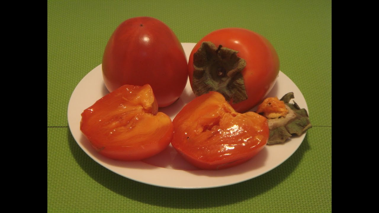 Hachiya Persimmon: How to Eat Persimmon - YouTube
