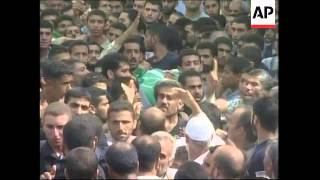 Funeral for militants killed in Israeli strike, reax