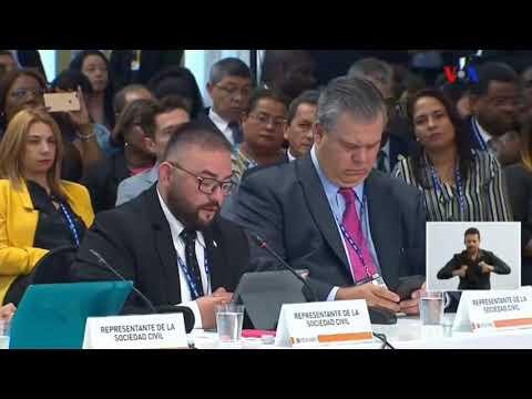 Intervención De Franco Fuica De La Coalición LGBTTI En La Asamblea General De La OEA 2019