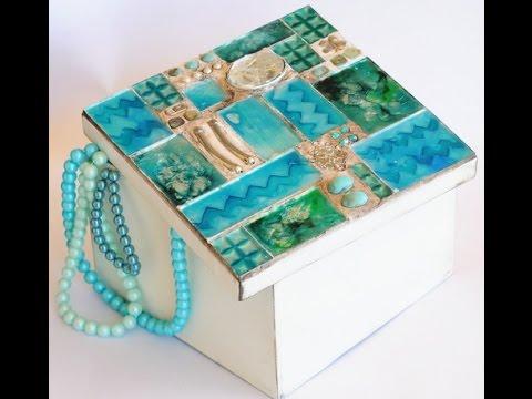 Vitromosaico lacas vitrales al agua espejos cajas for Pintura para hacer espejos