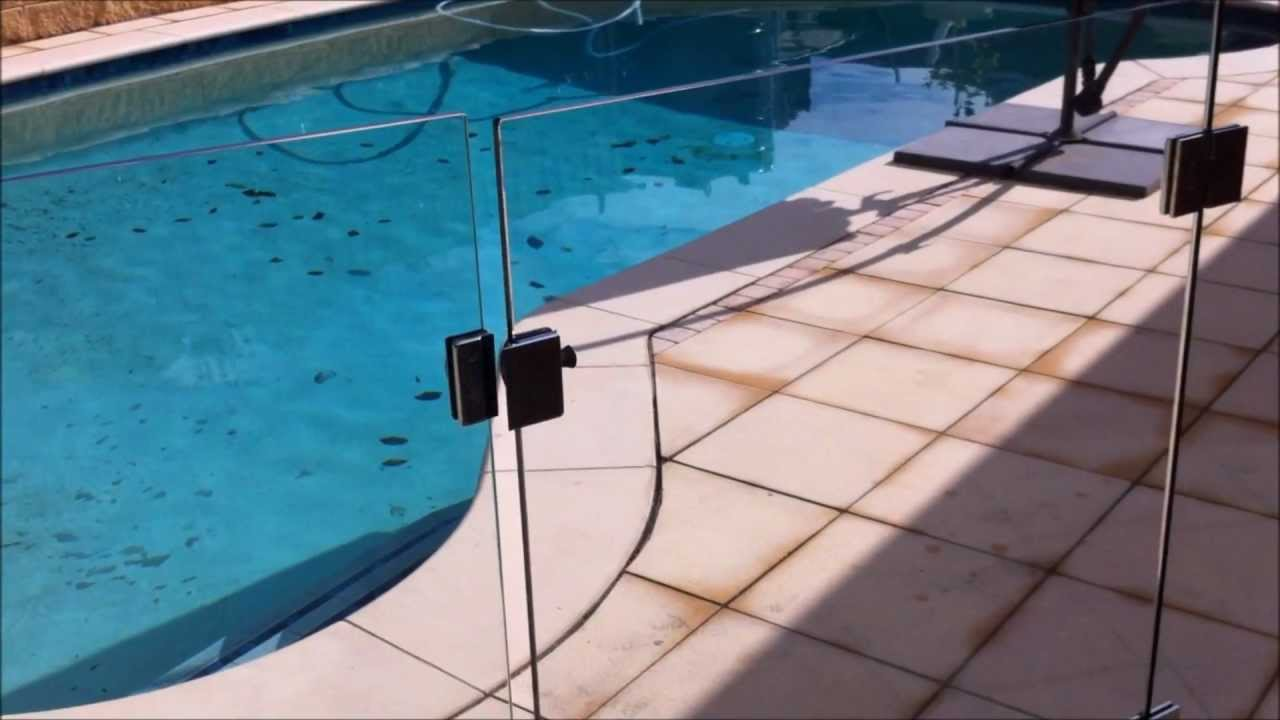 Polaris Soft Close Hinge Glass Gate Adelaide Frameless