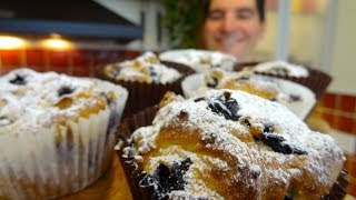 Blueberry Muffins: Delicious Fruit, Gently Sweetened With Honey.
