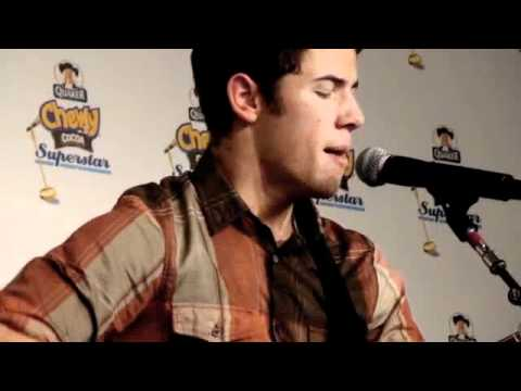 Nick Jonas Singing Who I Am - Acoustic Version