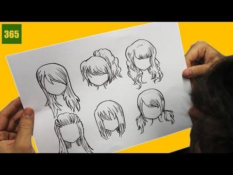 COME DISEGNARE I CAPELLI ANIME / COME DISEGNARE I CAPELLI MANGA - Come disegnare i capelli