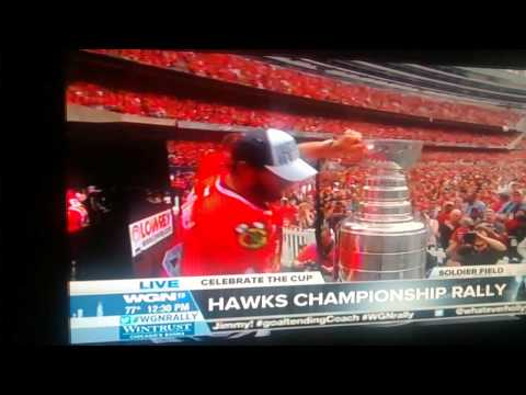 Chicago Blackhawks 2015 Rally - Pat Foley