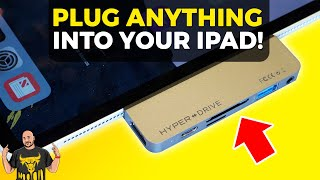 iPad Pro USB-C Accessories with HyperDrive for iPad Pro!