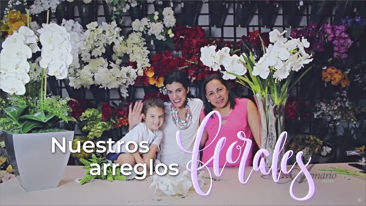 Nuestros arreglos florales y sus secretos youtube for Plastico para estanques artificiales